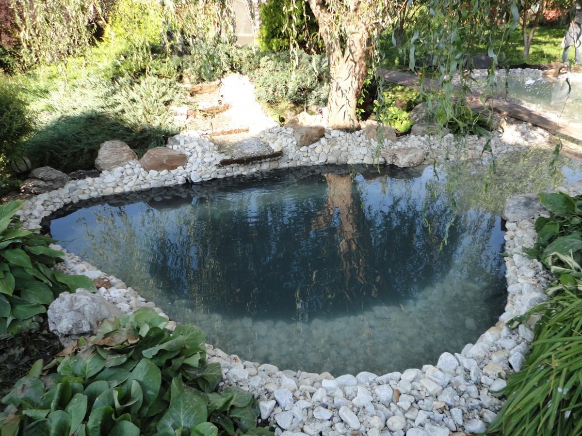 Деоративный водоем из природного камня